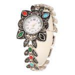 <b>Antique</b> Silver Quartz Wristwatch Women's Bracelet Watches Top Brand Luxury Lady Dress Watches Crystal <b>Jewelry</b> Clock Reloj Mujer