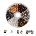 1200pcs/box 6 Colors 3mm Column metal brass Crimp Beads and end beads <b>Antique</b> Bronze/Silver/Golden <b>Jewelry</b> Findings accessory