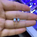 Choi bao <b>jewelry</b> Natural blue moonstone earrings, 925 silver earrings wholesale sterling silver earrings <b>accessories</b>