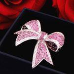 YueBanG Fancy <b>Jewelry</b> Free Shipping Brooch For Women Silver Bowknot Brooch Wedding <b>Accessories</b> Zircon Rhinestone Pins brooch