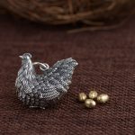 Deer king S925 silver <b>jewelry</b> wholesale Silver <b>Antique</b> retro style longevity fortune chicken Pendant