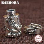 BALMORA 925 Sterling Silver Vintage Buddhistic Pendants for Women Men <b>Accessories</b> Thai Silver <b>Jewelry</b> Without a Chain SY10656