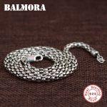 BALMORA 100% Real 925 Sterling Silver <b>Jewelry</b> Chains Necklaces for Men Sterling Silver Necklace 18-32 inch <b>Accessories</b> CK0097