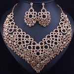 2017 New Circle Statement Necklace Earrings for Women Wedding <b>Accessory</b> Color Crystal Glass African Bridal <b>Jewelry</b> sets
