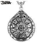 ZABRA Authentic 925 Sterling Silver Round Pendant Chinese Zodiac For Men Vintage Punk Rock Men <b>Jewelry</b> Buddhist <b>Accessories</b>