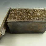 Elaborate Chinese Collectibles handwork old Copper Dragon Designs <b>jewelry</b> Box