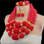 Amazing Gold-color Fashion African <b>Jewelry</b> Sets Red Costume Women Crystal Party Events <b>Jewelry</b> <b>Accessories</b> Free Shipping WD611