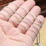 Solid Silver 925 O Link Chain Necklace For Men Women 100% Sterling Silver 925 <b>Jewelry</b> Accessory DIY Free
