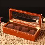 <b>antique</b> retro 4-grid wooden watch box wood watches case with glass window watches box reloj patek watch MSBH003b