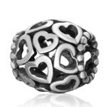 Open Your Heart Charms <b>Antique</b> 925 Sterling Silver Love Hearts Beads For European Woman Snake Chain Bracelets DIY <b>Jewelry</b> Making