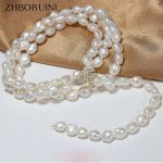 ZHBORUINI Fashion Pearl <b>Jewelry</b> Baroque Necklace Natural Freshwater Pearl Sweater Chain <b>Accessories</b> Statement Necklace For Women