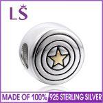 LS 925 Sterling Silver <b>Accessories</b> Star Beads Fit Brand Charm Silver Bracelet <b>Jewelry</b> 10pcs/lot