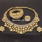 New Dubai Fashion Women <b>Jewelry</b> <b>Accessories</b> Crown Crystal Necklace Ring Bracelet Earrings Wedding Party Italian <b>Jewelry</b> Sets