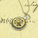 Steampunk Necklace Watch Parts Gear Pendant Vintage <b>Antique</b> Clock Cogs <b>Jewelry</b> Handmade