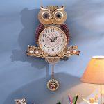 British <b>Jewelry</b> Watches Creative Owl Clock Home Furnishing European Modern Design Living Room Hanging Wall Decor Pendant