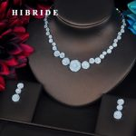 HIBRIDE Luxury Micro CZ Pave Flower Dubai <b>Jewelry</b> Sets For Women Bride Necklace Set Wedding <b>Jewelry</b> Dress <b>Accessories</b> N-394