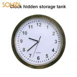 SOLEDI Wall Clock Safe Container Keys Bronze Color Elegant Watches Clock Storage <b>Jewelry</b> Stash