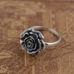 S925 silver <b>jewelry</b> wholesale Silver <b>Antique</b> Style blossoming ring personalized gift