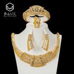 BAUS 2018 Dubai <b>jewelry</b> sets Imitation crystal Gold-color african beads <b>jewelry</b> set Costume Bridal wedding Pretty <b>accessories</b>