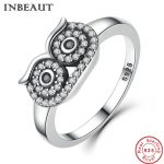 INBEAUT <b>Antique</b> <b>Jewelry</b> Women Wedding 925 Sterling Silver Lovely Cubic Zirconia Paved Owl Ring Female New Fashion Animal Rings