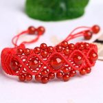 Drop shipping String knitted red <b>jewelry</b> Red Womens Bracelet Knitted Red String Bracelets Female <b>Accessories</b> wholesale
