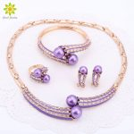 Gold Color <b>Jewelry</b> Sets Women Brand <b>Jewelry</b> Set/ Wedding <b>Accessories</b> For Women Simulated Pearl Crystal Necklace Sets 2Colors