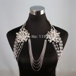 Women Long Crystal Necklace boday Chain Bridal Shoulder Strap Bride <b>Jewelry</b> Wedding <b>Accessories</b> Chains Necklaces Vintage