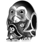 Aceworks S925 Sterling Silver Cute Penguin Bead Charms Fashion <b>Jewelry</b> DIY Bracelet Children Gift Elegant <b>Antique</b> Animal