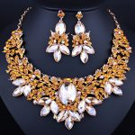 Statement Crystal Necklace Earrings set for Women Christmas Party <b>Jewelry</b> <b>Accessory</b> African Beads <b>Jewelry</b> sets
