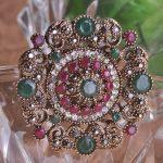 Luxury Brand Turkey Resin Beads Broach Accessories Colar Fashion Woman <b>Antique</b> Gold Broches Bouquet Brand Anniversary <b>Jewelry</b> UK