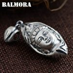 BALMORA 990 Pure Silver Vintage Buddhistic Pendants <b>Accessories</b> for Necklace Men Religious <b>Jewelry</b> Gift Without a Chain SY13170