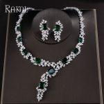 RAKOL Top Quality Square Cubic Zirconia Flower Sliver Color <b>Jewelry</b> Set For Women Bridal Dress <b>Accessories</b>