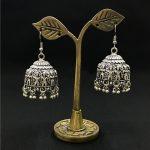 India Retro Statue <b>Antique</b> Silver Anaglyph Birdcage Earrings Traditional Handmade <b>Jewelry</b> in New Delhi Mumbai Islamic <b>Jewelry</b>