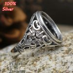 100% 925 Sterling-Silver-<b>Jewelry</b> Adjustable Oavl Ring Blank Fit 13*16MM CrossSetting Tray <b>Antique</b> Silver Plate