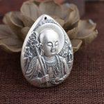 Deer King Silver Pendant S990 fine silver <b>jewelry</b> line Bergamot <b>antique</b> style Buddhist Bodhisattva NEW
