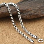 Hot Sale Thai 925 Sterling Silver Necklace Cross Chains Curb Retro Vintage Men Women's Gift Chains Pendants <b>Jewelry</b> <b>Accessories</b>