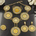 2018 New Fashion Dubai Crystal Long <b>Jewelry</b> Sets Gold Coins Women African Wedding <b>Accessories</b> Bead Necklace Dangle Earrings Set