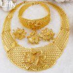 2018 European New Fashion Women 18 Gold <b>Jewelry</b> Sets Luxury Necklace Ring Earrings Bridal Wedding <b>Jewelry</b> <b>Accessories</b>