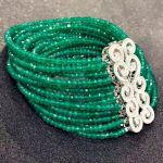 Green stone bracelet 925 <b>sterling</b> <b>silver</b> with cubic zircon multi layers smart bracelet fashion women <b>jewelry</b> free shipping