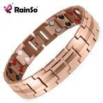 Rainso Fashion <b>Jewelry</b> Healing FIR Magnetic 316L Stainless Steel Bracelet For Men Or Women <b>Accessory</b> Unisex Trendy Bracelet