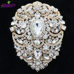 Large Brooch Pins Bridal Wedding <b>Jewelry</b> 4.9 inches Rhinestone Crystal Women <b>Jewelry</b> <b>Accessories</b> 4045