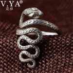 V.YA Thai Silver Animal Snake Rings for Women Men 925 Sterling Silver Anillos Fashion <b>Jewelry</b> <b>Accessories</b> Hot Sale