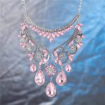 Necklace Fashion <b>Jewelry</b> Stainless Steel Necklace B <b>Antique</b> Silver Plated lekani Fashion Women <b>Jewelry</b> Bib Crystal State