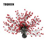 TDQUEEN Brooches <b>Antique</b> Silver Plated Red Bead Women Broches Natural Stone Pin <b>Jewelry</b> Tree Flower Brooch for Christmas Gift