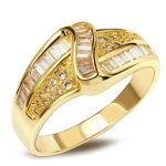 Classic Zircon <b>jewelry</b> Wholesale price China Top quality Gold-color AAA Zirconia Channel setting stones Women <b>accessories</b> rings