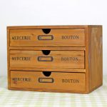 ZAKKA Vintage Real Wooden Storage Box With 3 Drawer Imitate <b>Antique</b> Creative Furniture Storage Cabinet <b>Jewelry</b> Collection Case