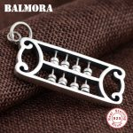 BALMORA 925 Sterling Silver Abacus Pendants for Women Men <b>Accessories</b> Thai Silver Classic Fashion <b>Jewelry</b> High Quality SY13196
