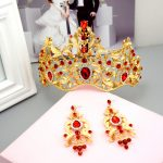 Baroque Color Crystal Diadem Vintage Exaggerated Luxury Big Crown Gold Color TapesCrystal Hairband Women Hair <b>Accessories</b>