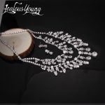 Gorgeous Luxury Bridal <b>Jewelry</b> Sets Poem of Spring Top Quality CZ Tassel Necklace Flower Earrings Bijoux <b>Accessories</b> AS079