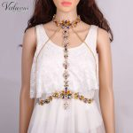 Vedawas Bohemian Fashion Body Sexy Rhinestone Chain Tassel Statement Necklace Bikini Fashion <b>Accessory</b> <b>Jewelry</b> xg179
